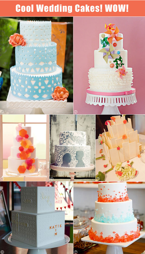 Modern and hip cakes