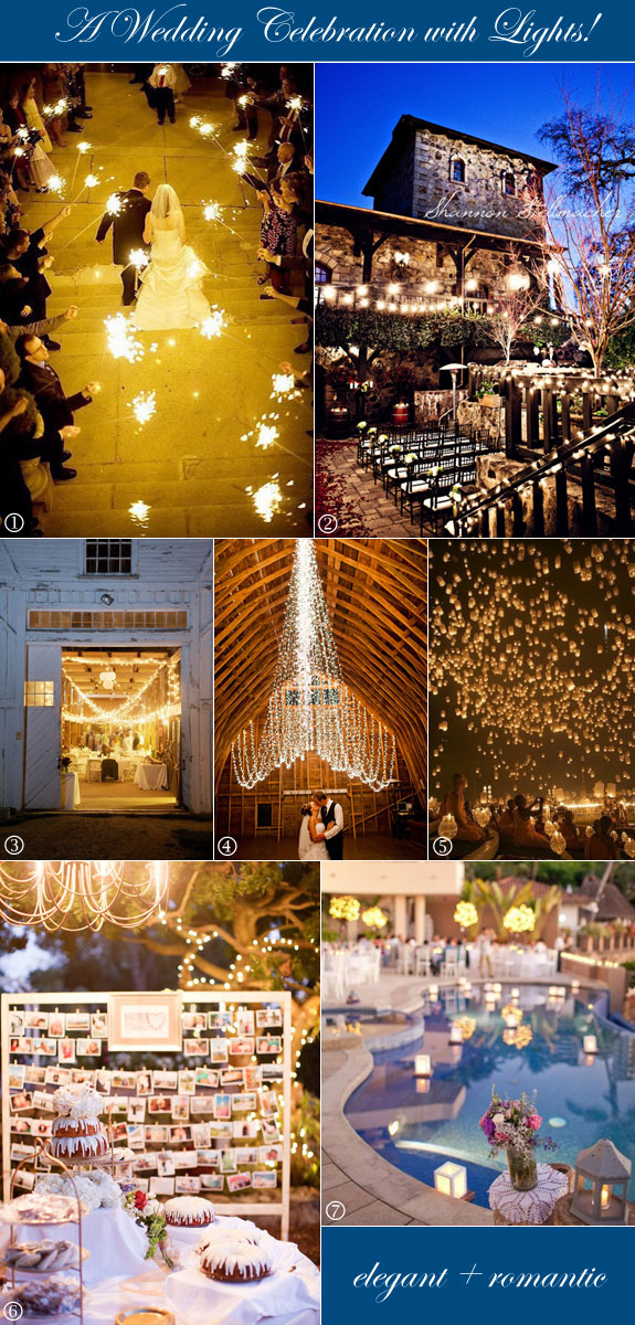 Unique wedding lighting ideas from sparklers to floating lanterns to fairy lights