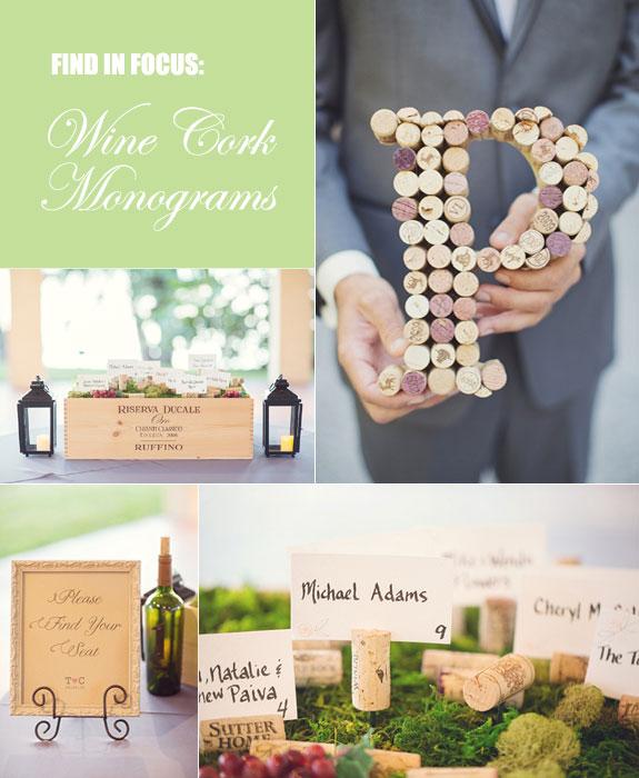Wine-inspired wedding elements