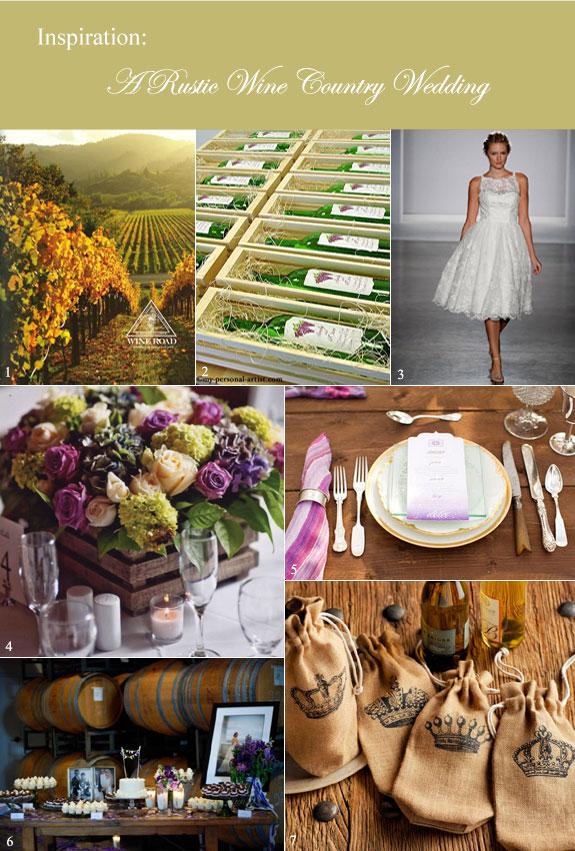 Vineyard inspired wedding inspiration board
