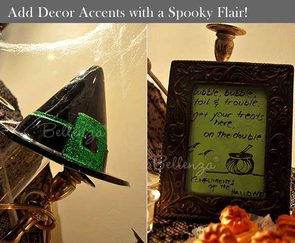 Witch hat and black picture frame