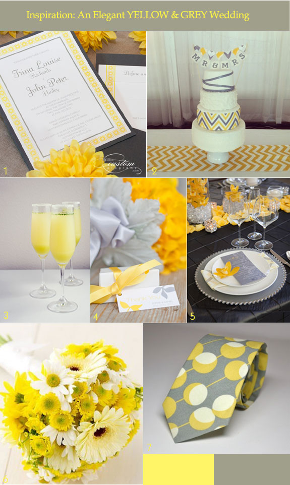 Modern ideas for a yellow and grey color palette