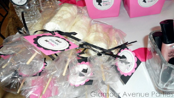 Party favors spa shower