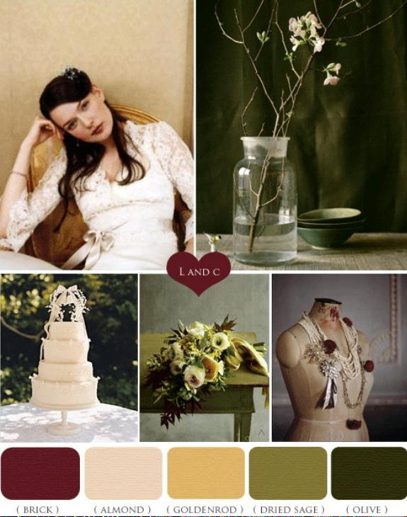 fall wedding with vintage colors