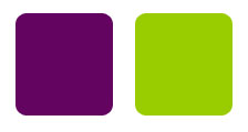 plum and chartreuse color combination