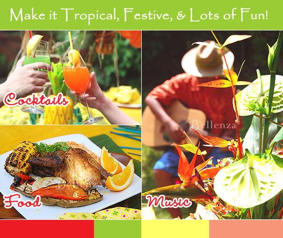 Jamaican theme favors