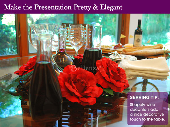 Presentation tips for wine and cheese party
