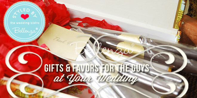 Favors and Gifts for the Groomsmen and Men at the Wedding