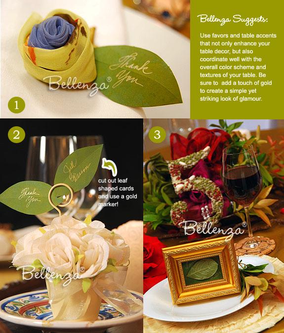 Leaf and mini pots favors