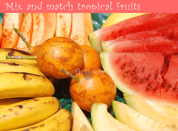 Tropical fruits from watermelons to bananas