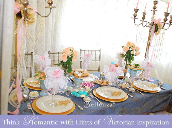 Victorian tablescape decorations