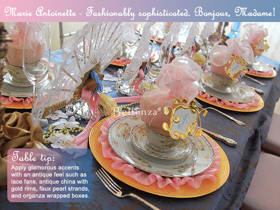 Marie Antoinette with Vintage Decorations