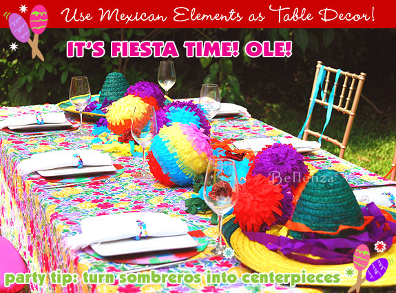 Fiesta-style tablescape for a Cinco de Mayo.