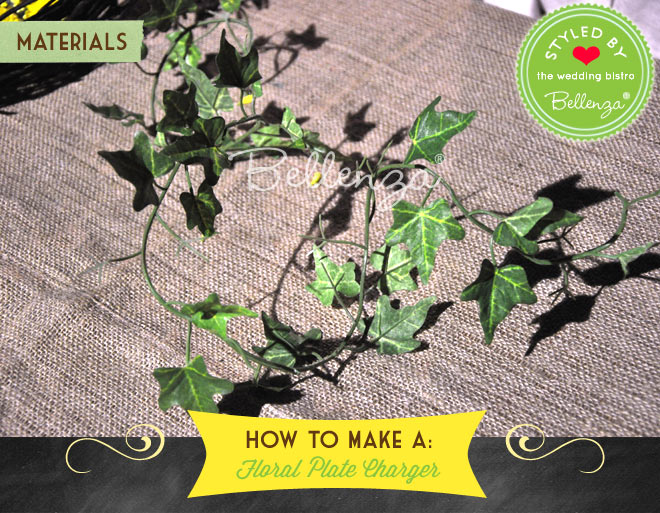 Ivy leaf garlands for making a plate charger.