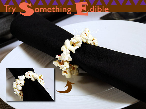 popcorn napkin rings for a halloween party
