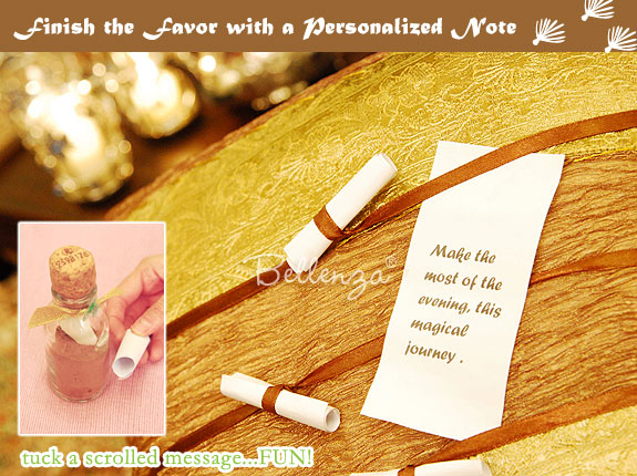 Spice favors for Arabian Nights wedding theme