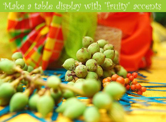 Tropical fruit centerpieces