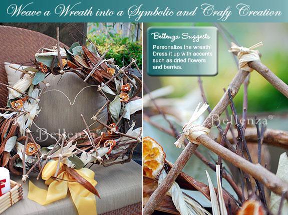 create a wreath