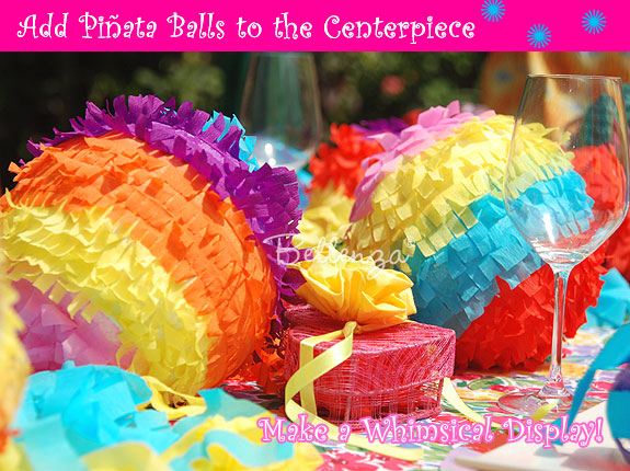 Cinco de Mayo crepe paper ball centerpieces