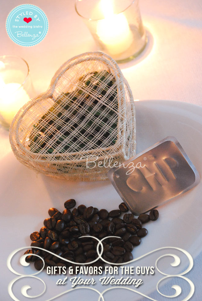 Coffee favors and gifts for men.
