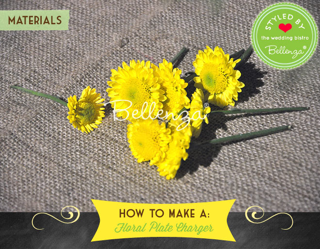 Use yellow flowers like mums, zinnias, dahlias, or marigolds.