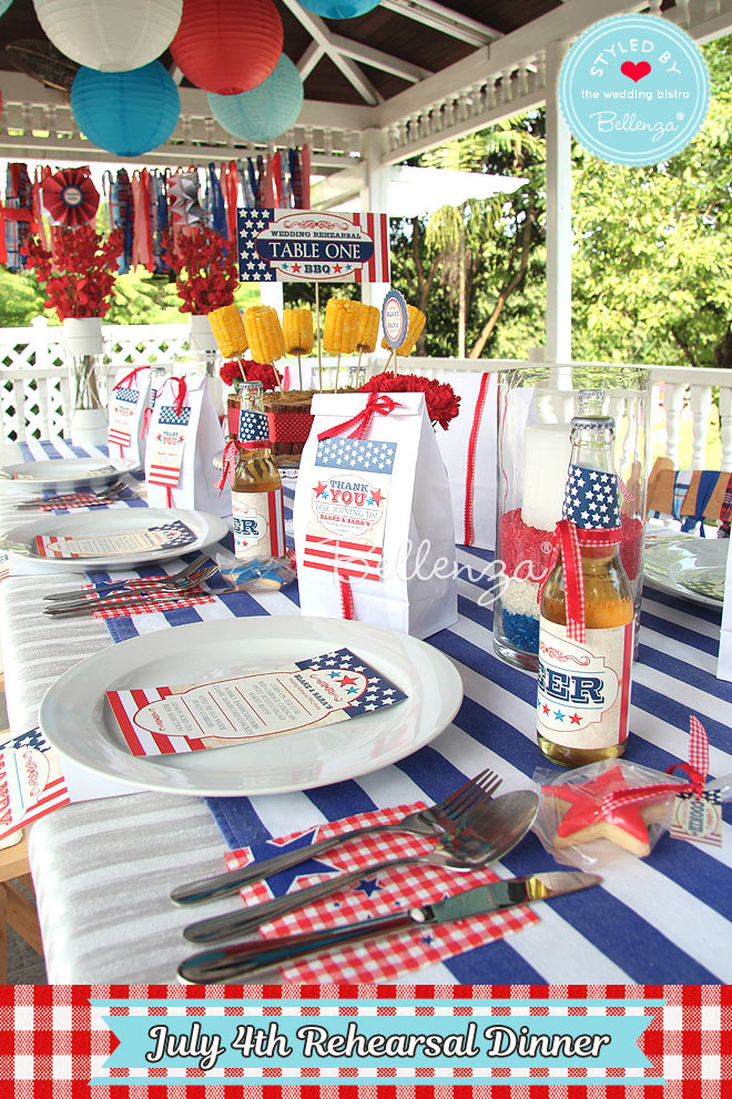 Patriotic Place Setting Details for July 4th Party