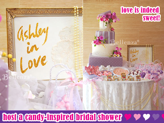 Pretty pink wedding cake table sign
