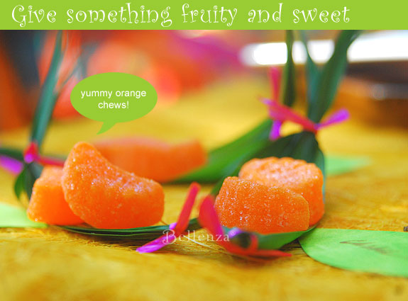 Tropical chew candies