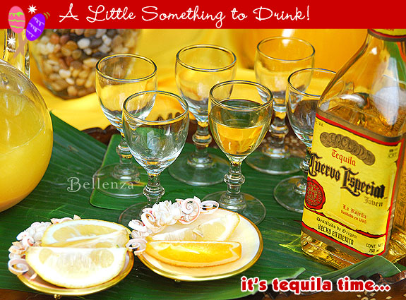 Tequila shots for a fiesta style party.