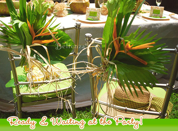 Tropical eco-friendly chair decorations by Bellenza.