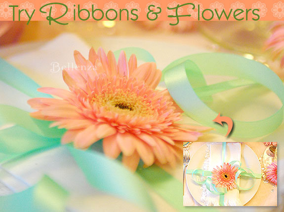 flower heads as a napkin ring