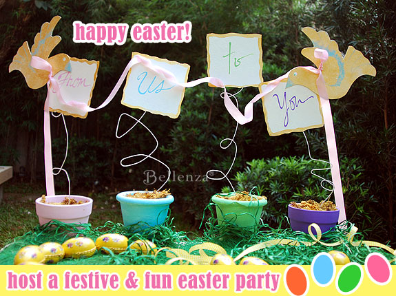 Easter treat table signage