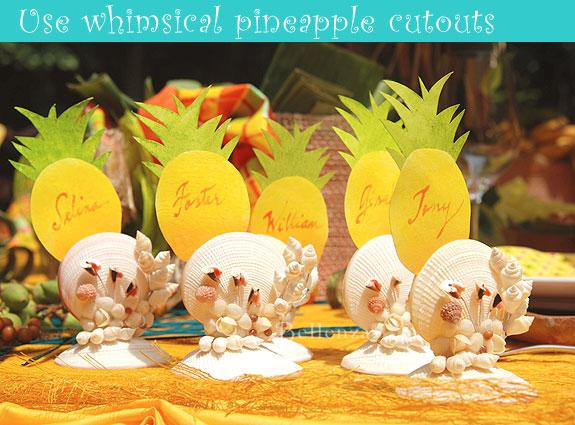 Pineapple escort cards