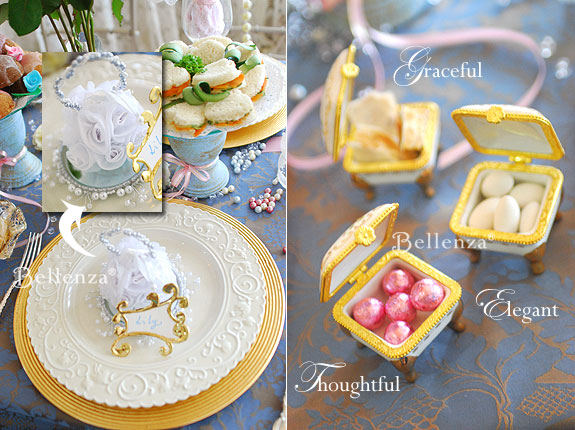 Victorian themed tea party favors