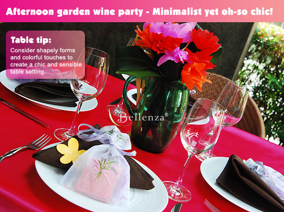 Whimsical afternoon garden party