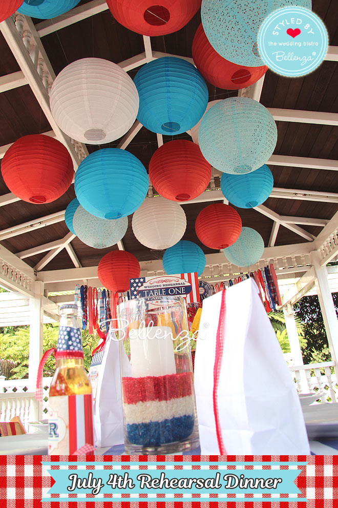 Ceiling Decor: Paper Lanterns for July 4th Party