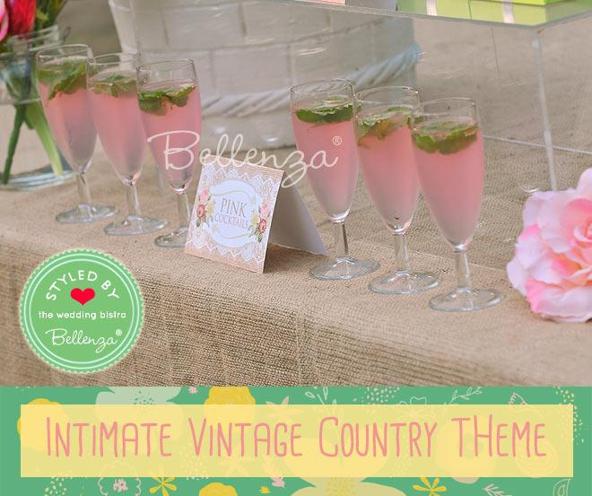 Pink lemonade cocktails