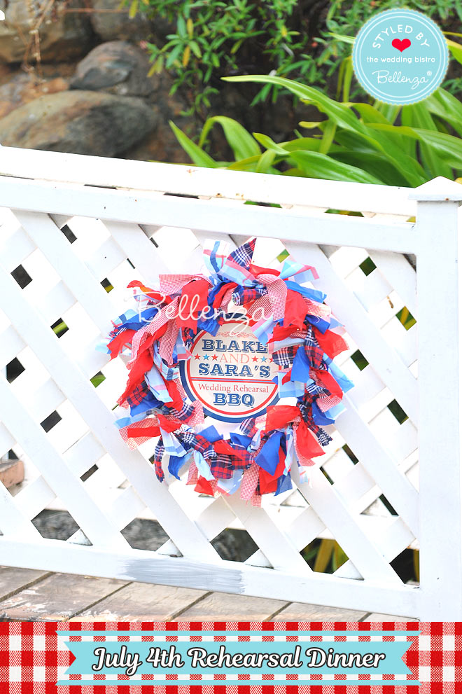 Welcome Wreath You Can DIY for July 4th Party