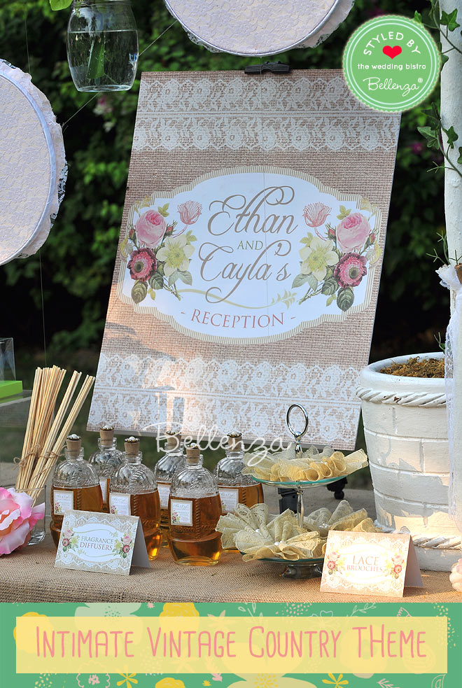 Vintage country wedding signage