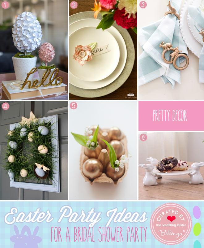 Easter Bridal Shower Decorations