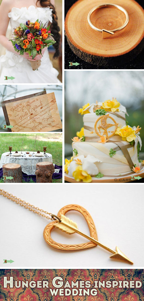 Hunger games wedding inspiration table decorations