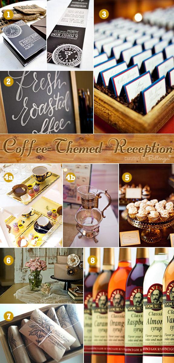 Coffee themed wedding ideas