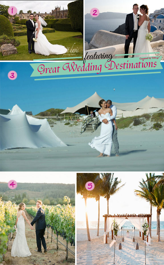 Destination wedding locations around Europe