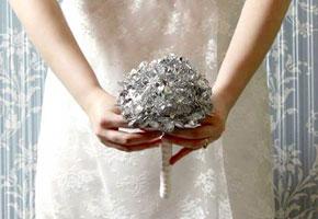 Silver flower bouquet