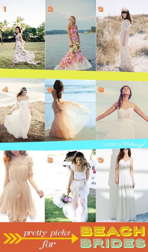 Stylish beach wedding dresses summer