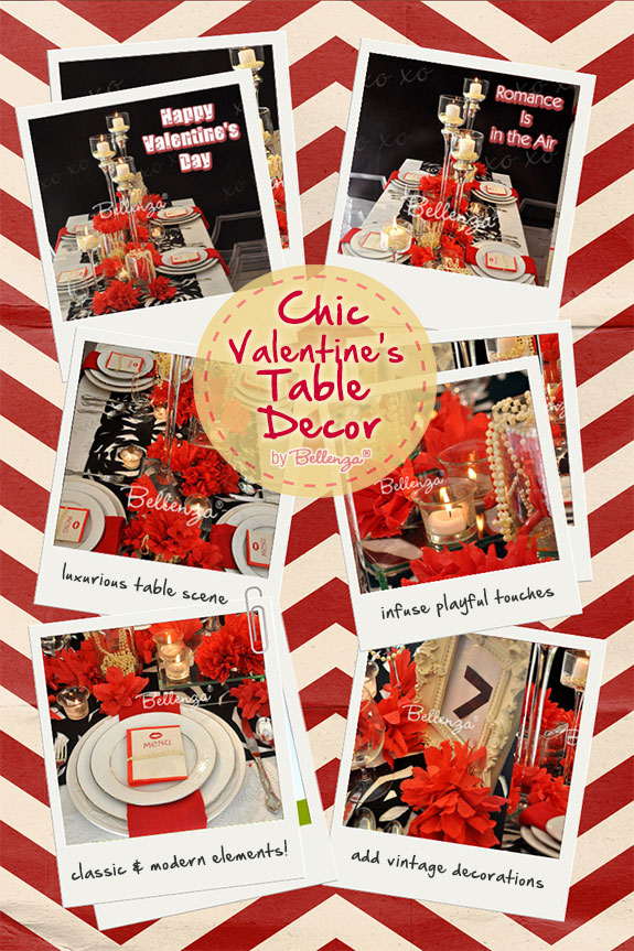 Chic Valentine decorations
