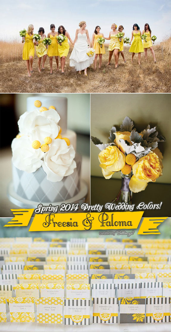 Elegant freesia and yellow weddings
