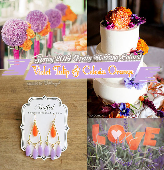 Lilac and orange weddings