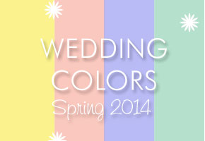 Elegant spring 2014 wedding colors