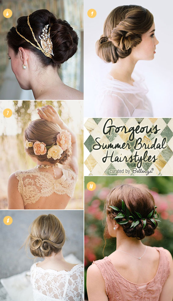 Wedding hairstyles for summer brides